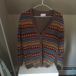 Vintage funky sweater cardigan